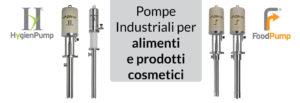 Pompe industriali, alimentari e cosmetici
