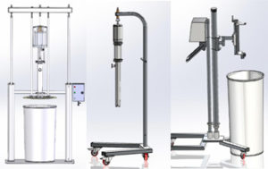 ZPARROW: PNEUMATIC PUMP LIFTING CARRIAGES – DRUM EMPTYING